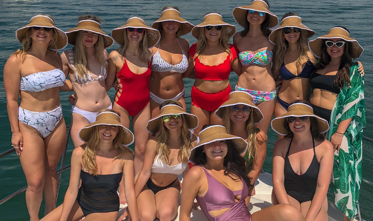 A bachelorette party with Black Ice Yacht Charters is the best.